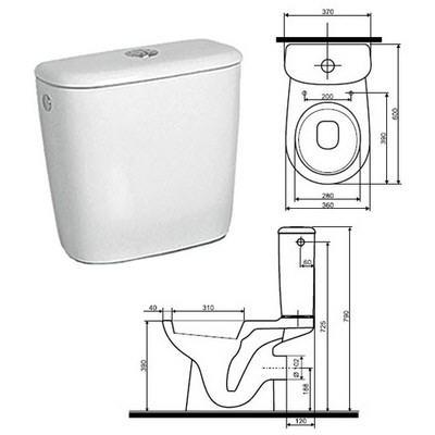 Kolo Nova Top Pico monoblokkos WC tartály