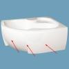 M-acryl Azalia kád előlap 170 cm jobbos