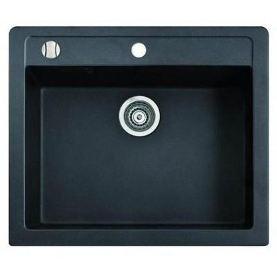 Marmorin Bario egymedencés gránit mosogató fekete 120103002