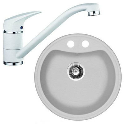 Marmorin ISAO gránit mosogató szett fehér 250803006szett1