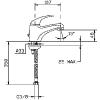 Mofém Junior Eco mosdó csaptelep lánctartó szemmel műszaki rajz