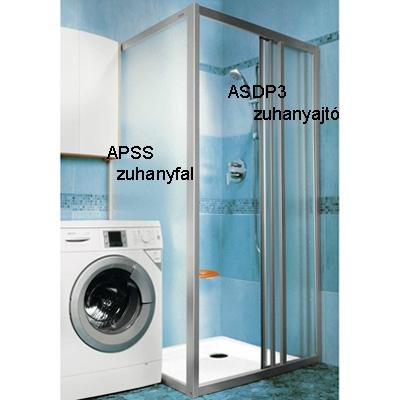 Ravak SUPERNOVA APSS-75 zuhanyfal szatén profil pearl betét