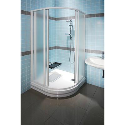 Ravak SUPERNOVA SKCP4-90 íves zuhanykabin fehér profil transparent üveg