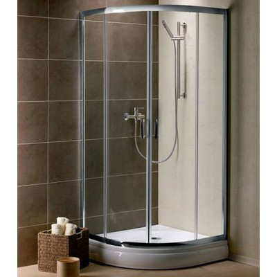 Radaway Premium Plus A1900 íves zuhanykabin króm profil grafit üveg 30413-01-05N