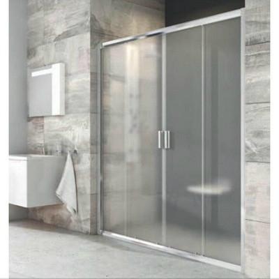 Ravak Blix BLDP4 négyrészes zuhanyajtó 170 cm fehér keret Transparent üveg