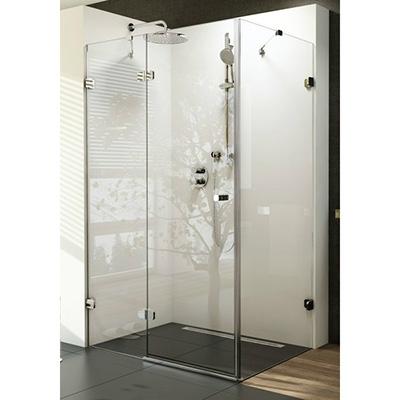 Ravak BRILLIANT BSDPS-90 jobbos szögletes zuhanykabin króm profil transparent üveg