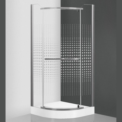 Roltechnik Austin 800 íves zuhanykabin ezüst profil pattern üveg