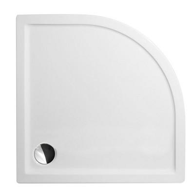 Roltechnik Flat Round 800 íves zuhanytálca fehér