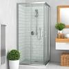 Roltechnik LLS2 1000x800 szögletes zuhanykabin brillant profil transparent betét