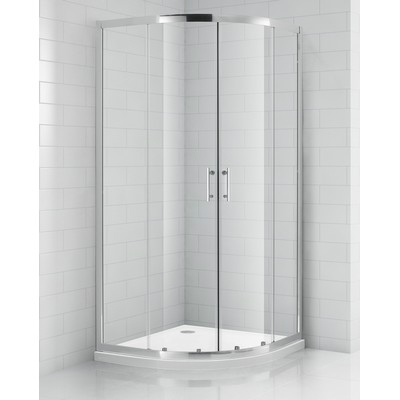 Roltechnik OBR2 80 íves zuhanykabin brillant profil transparent üveg
