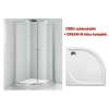 Roltechnik OBR2 900 zuhanykabin és Dream-M 900 zuhanytálca szett