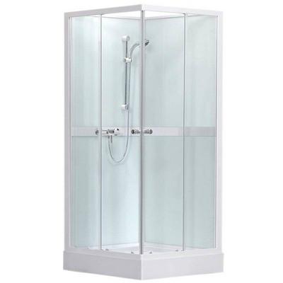 Roltechnik SIMPLE SQUARE szögletes zuhanybox 80 transparent üveg fehér profil 4000692