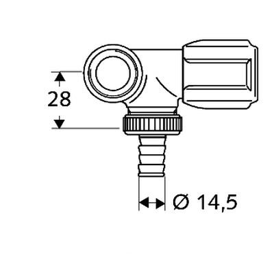 Schell Comfort mosógépcsap G 3/4 csaphosszabítós balos