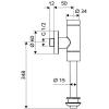 Schell Schellomat Basic 2478 vizelde öblítőszelep 024780699 műszaki rajz