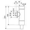 Schell Schellomat Basic WC öblítőszelep nyomógombos 022470699 műszaki rajz