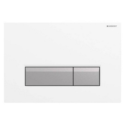 Geberit Sigma 40 nyomólap fehér műanyag aluminium kombináció szagelszívóval
