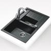 Teka Aura 60B gránit mosogató beépíthető sötétszürke 1060x525 mm