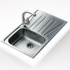 Teka BASICO 79 1C 1E beépíthető mosogató 790x500 mm rozsdamentes acél