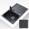 Teka CARA 45B gránit mosogató metál fekete 795 x 500 mm