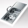 Teka Classic 2C 1E beépíthető mosogató 1160x500 mm rozsdamentes acél