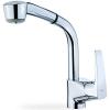 Teka MB2 MT EXT egykaros magasított mosogató csaptelep kihúzható zuhanyfejjel króm