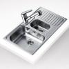 Teka PRINCESS 1 1/2C 1/2E beépíthető mosogató rozsdamentes acél mikrotextúrás