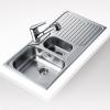 Teka PRINCESS 1 1/2C 1E beépíthető mosogató rozsdamentes acél