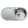 Teka DR 80 1C 1E beépíthető mosogató rozsdamentes acél mikrotexturás