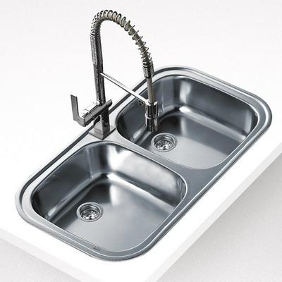 Teka STYLO 2B beépíthető mosogató rozsdamentes acél