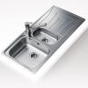 Teka UNIVERSO 1 1/2C 1E beépíthető mosogató rozsdamentes acél