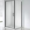 Wellis Quadrum Black 90 szögletes zuhanykabin fekete profil átlátszó üveg WC00430