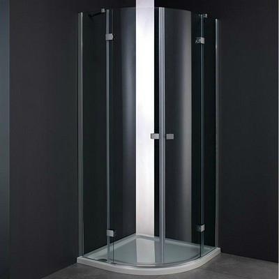 Wellis Arno 90 íves zuhanykabin alumínium profil átlátszó üveg WC00402