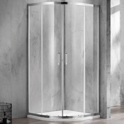 Wellis Caprera 90 íves zuhanykabin alumínium profil átlátszó üveg WC00432