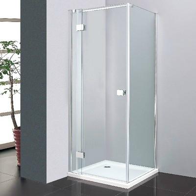 Wellis Clyde 90 szögletes zuhanykabin alumínium profil átlátszó üveg WC00338