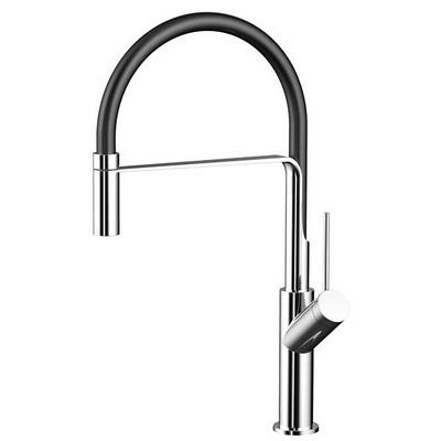 Wellis Fizz mosogató csaptelep kihúzható zuhanyfejjel fekete króm ACS0216