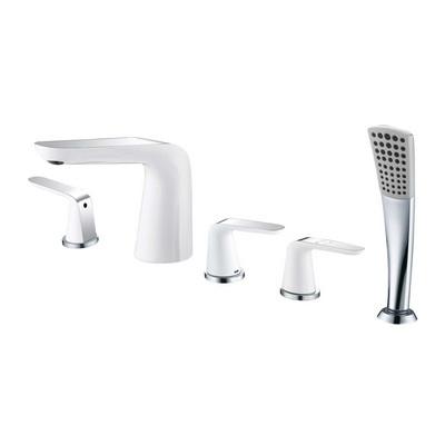 Wellis kádperem csaptelep Rundo Bath fehér króm ACS0196