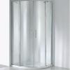 Wellis Scorpio 90 íves zuhanykabin alumínium profil átlátszó üveg WC00325