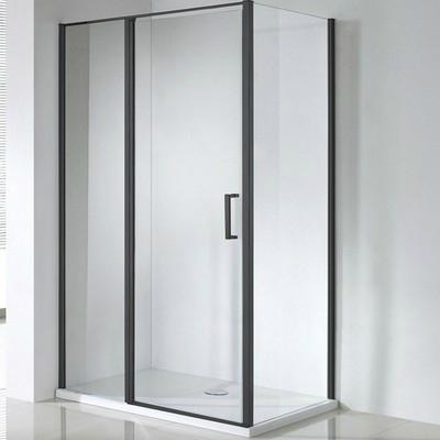 Wellis Triton Black 120x80 téglalap zuhanykabin fekete profil átlátszó üveg WC00431
