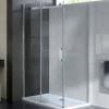 Wellis Vincenzo 120x80 téglalap zuhanykabin alumínium profil átlátszó üveg WC00333