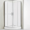 Wellis Vivara 90 íves zuhanybox alumínium profil átlátszó üveg WC00419